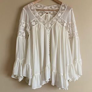 Free People Flowy Blouse